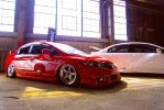 Stanced FA5 Honda Civic Si @ Evolution by BLOX by Freebro