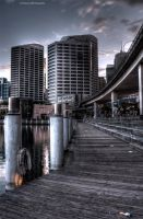 Darling Harbour Sunrise - Boardwalk by Lori-P-Photography
