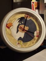 Eeyore clock by cutiechibi
