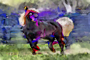 equine in abstract by UkuleleMoon