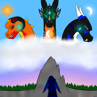 To Meet the gods -Re-draw- by MeiTheDragon