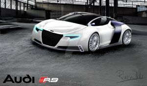 Audi R9 Rendering white by RemonvdH