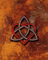 Valentines Heart Celtic Knot Rusted Metal by thelearningcurve-da