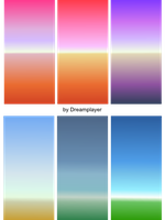 SVG gradients, landscapes by Dreamplayer