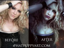 Before and After Joanna by Phatpuppyart-Studios