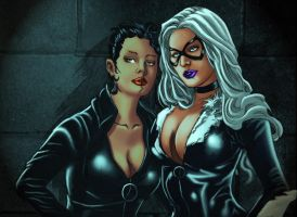 Blackcat and Catwoman02 by Troianocomics