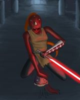 Sith Assassin Photoshop wip by ShadowNight805