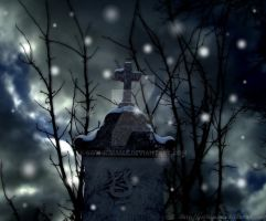 It's snowing in the cemetery by Gothicmama