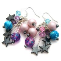 Stars and Planets Earrings by fairy-cakes