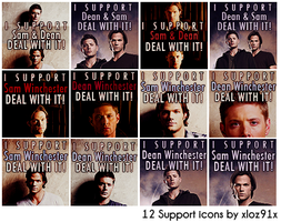 12 Sam and Dean icons by xloz91x