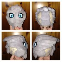 Garrus Plushie Head WIP by Jessacre93