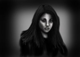 Black and White practise digital painting by SUNNY-3D-RAMM