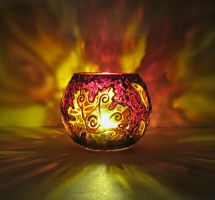 Maple Votive Candle Holder by bellekaX