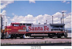 ATSF B40-8W 556 by hunter1828