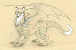 Foxy Dragon Sketch by Nicole-Marie-Walker