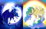 Sun and Moon by SquigyButt