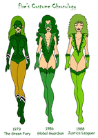 Fire's Costume Chronology Pt 1 by Femmes-Fatales