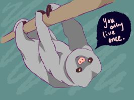YOLO Sloth by the-foolish-princess