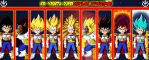 Kid Vegeta Supersaiyajin Evolutions by gonzalossj3