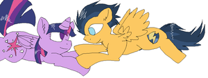 Twilight Sparkle x Flash Sentry by xXTwistedRainbows