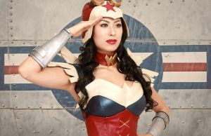 Steampunk Wonder Woman Cosplay Costume Salute by ApotheosisCosplay