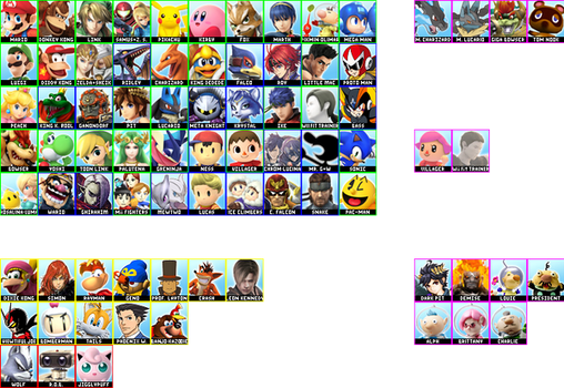 SSB Wii U/3DS Roster Predictions 6/19/14 by blaa6