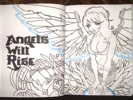 Angels Will Rise line art by drios
