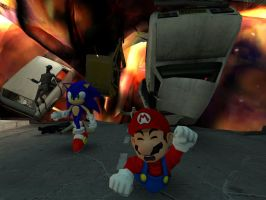 Mario and Sonic at 2012 games by GlitchyProductions