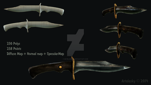 Simple Knife Low-Poly by SkybladeRus