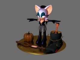 Rouge the bat HalloweenEdition by Thordwolf