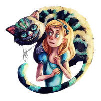 Alice and Cheshire by AwyrGreen