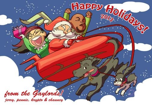 Merry Christmas from the Gaylords by IDComics