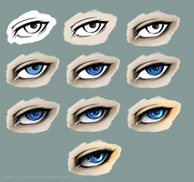 Eye coloring tutorial SAI by Tabe-chan