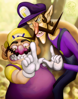 Wario and Waluigi - Wario Bros Salute by BoKaier