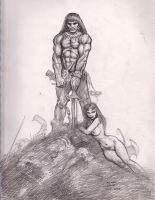 Frazetta's Conan The Barbarian by myconius