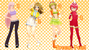 MMD Pose Pack 22 by Aisuchuu