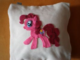 Pinkie Pie Pillow - WIP by CaveLupa