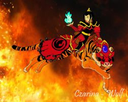 Through Fire and Flames: The Tigress by Czarina-Wolf