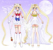 Sailor Moon and Serenity by Orava