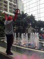 Katsucon 2014: Waterbending Deadpool by murkrowzy