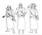 Barrell Kingstone Sketches by ProfessorMegaman