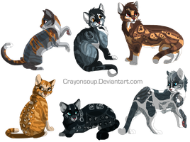 Trivubble kittens by DancingfoxesLF