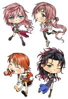 Chibi Ladies of FFXIII by kagaminoir