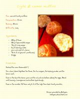 Light lemon muffins - Recipe by Melhyria