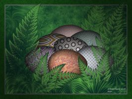 Easter Eggs in the Ferns by afugatt