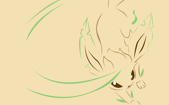 Simple Leafeon Wallpaper by AgentLiri