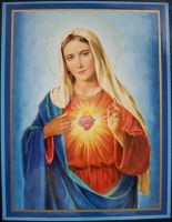 Blessed mother Sacred Heart by NewYorkArtistFrancis