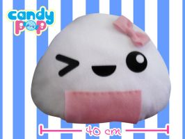 Big Onigiri Pillow by Insomniac-Princess