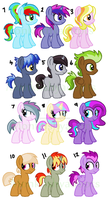 My Little Ponies Adoptables by MonkFishyAdopts