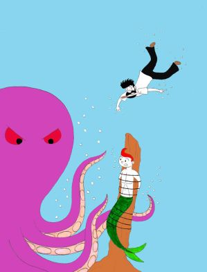 Tintin vs the Kraken